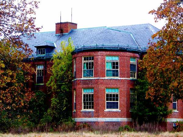 The Lippett Building at the Old Norwich State Hospital grounds.
