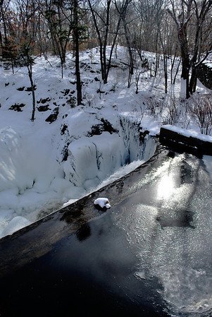 Lower Yantic Falls, January 2011