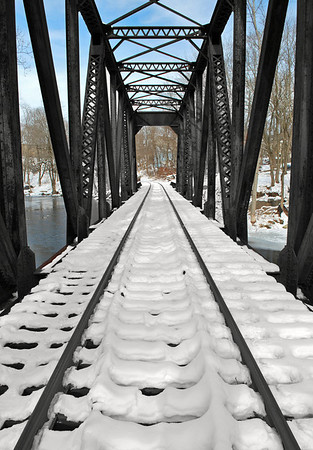 Snow on the trestle