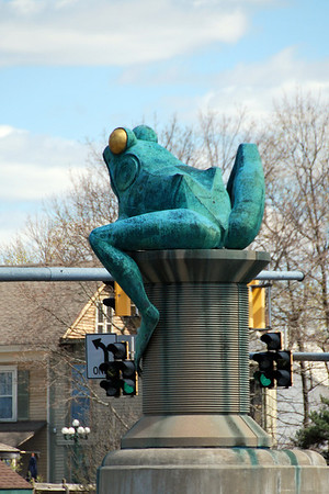 A Thread City Crossing Frog in Willimantic