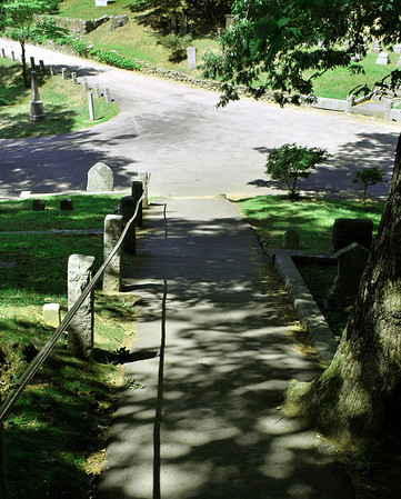 Pathway to Author's Ridge at Sleepy Hollow Cemetery