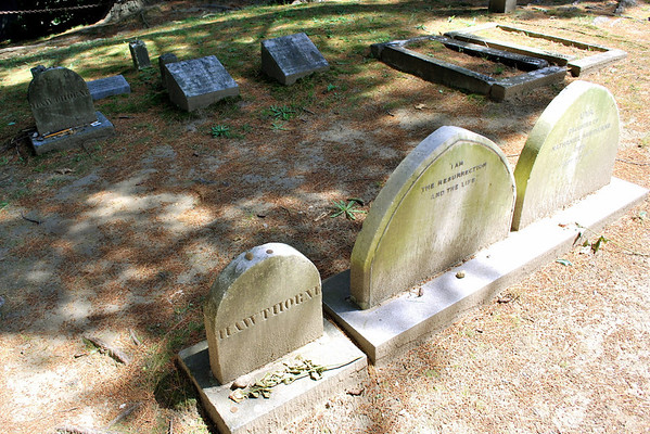 The Hawthorne Family Plot in Sleepy Hollow Cemetery