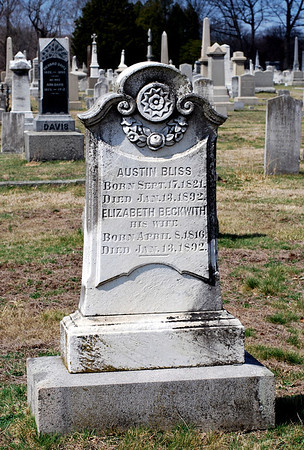 Austin and Elizabeth Bliss, date of death for both January 13th, 1892