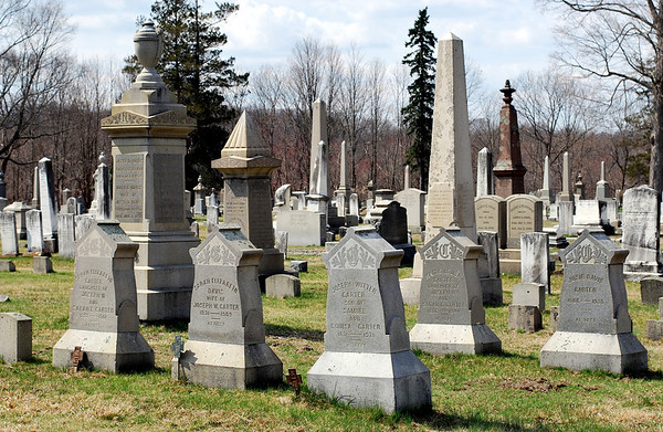 The Carter Family Plot, each stone reads