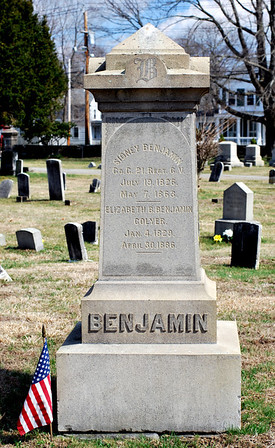 Sidney Benjamin, Civil War soldier who died on May 7th, 1863