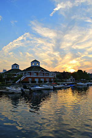 Sunset over the Norwich Marina