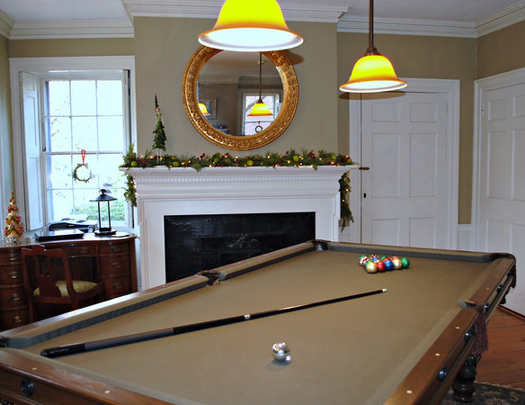 Love the Christmas Ornaments as Pool Balls