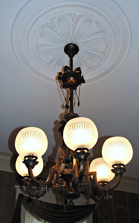 Original lamps were gas, converted to electric