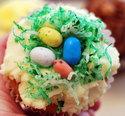 Coconut Cream Easter Cupcake