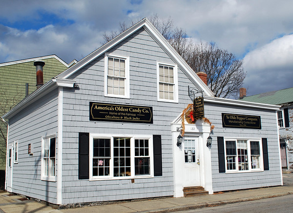 America's Oldest Candy Company on Derby Street in Salem, Massachusetts