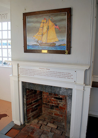 Fireplace in the Kids' Cove at the Gables