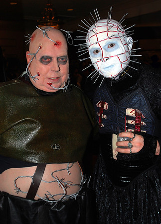 Barbie Cenobite and Pinhead of Hellraiser fame
