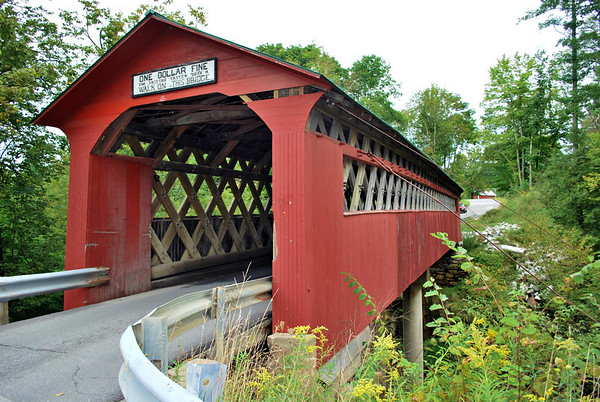 The Chiselville Covered Bridge in East Arlington, Vermont