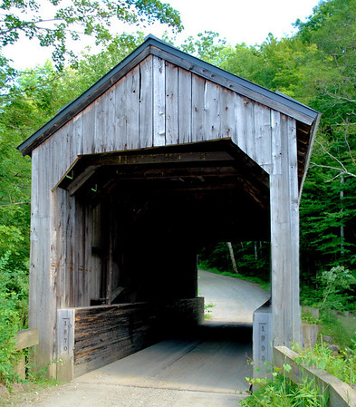 The 1870 Kidder Hill Covered Bridge in Grafton.