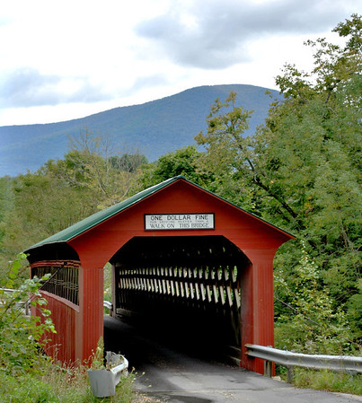 The Chiselville Bridge spans the Roaring Branch Brook and was built by Daniel Oatman in 1870.The name Chiselville Bridge comes from a former chisel factory nearby but the bridge was previously named High Bridge and the Roaring Branch Bridge.