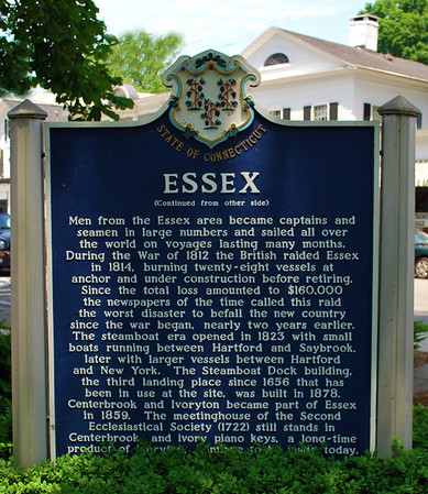 State of Connecticut Sign for Essex - back