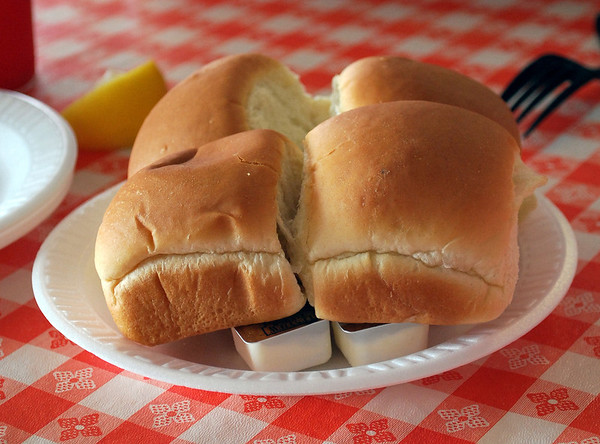 Dinner rolls and butter start every meal.