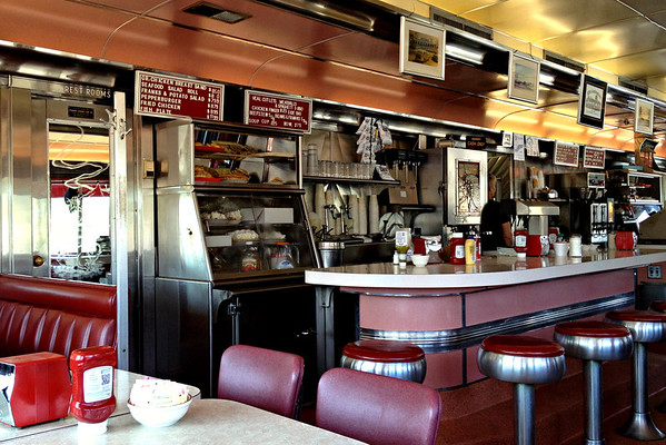 Interior of the Agawam Diner