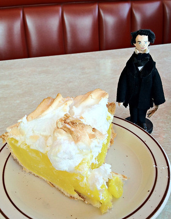 Nathaniel and a Slice of Lemon Meringue Pie at the Agawam Diner