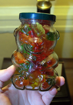 Gummi Bears in a Bear Jar