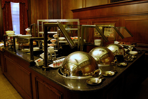 Breakfast Buffet stations at the Parker House