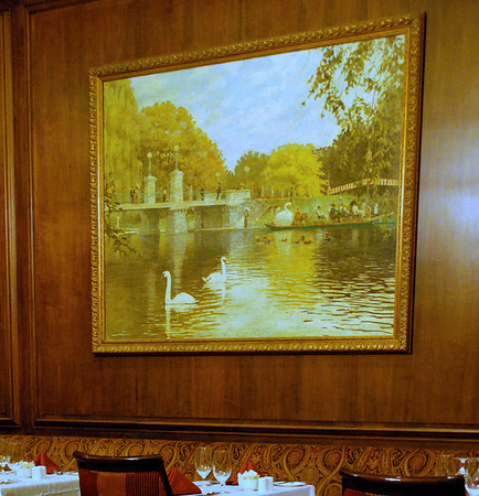 Painting of Boston Public Garden in the Parker Restaurant