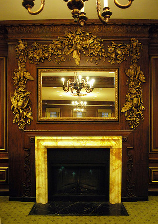 Fireplace in the Press Room