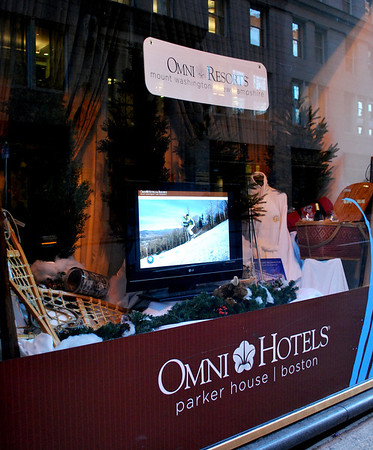 A display for the Omni Mount Washington Resort