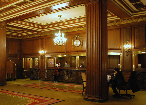 Front Desk Reception Area at Omni Parker House
