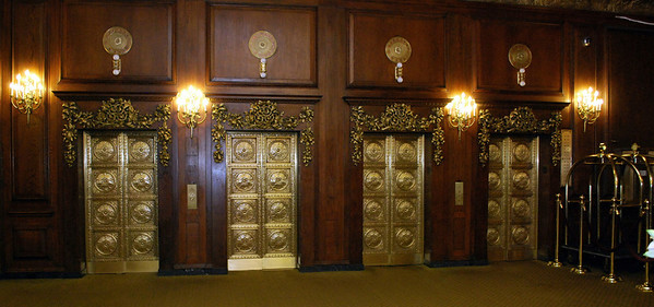 Elevator Bank at the Omni Parker House in Boston
