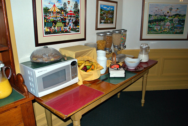 Fruit & Cereal Station at the breakfast buffet