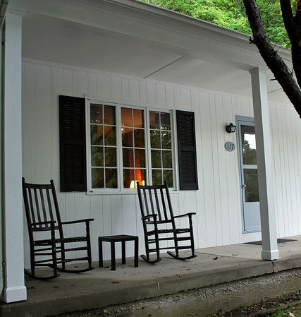 The front porch at Room #117