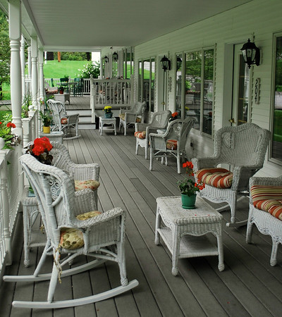 Porch area of The 1896 House Barnside Luxury Inn