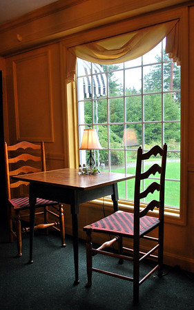 A table for two in the Breakfast Room