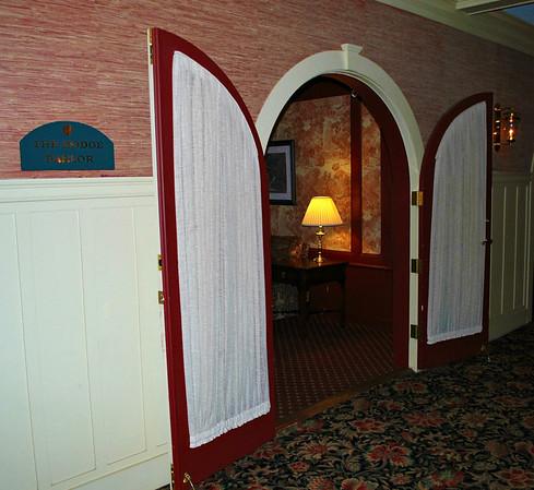 Doorway to the Dodge Parlor