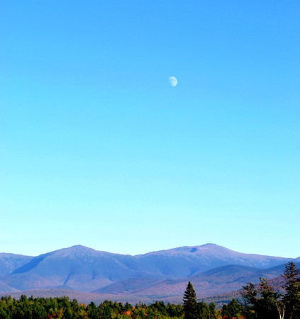 The Moon Rising Over Mount Washington
