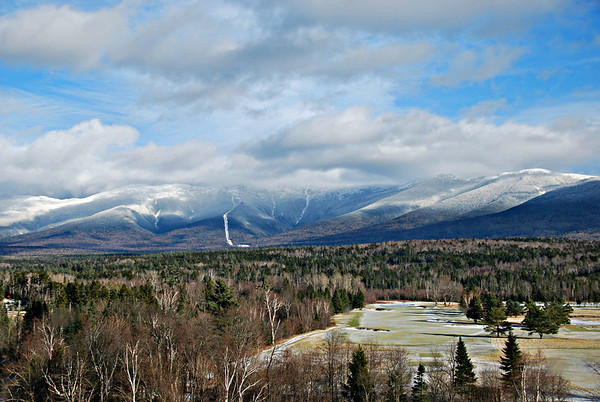 Mount Washington from a stairway window