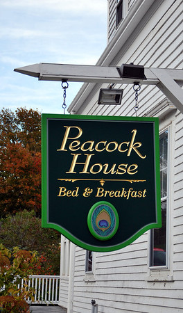 Signage for the Peacock House
