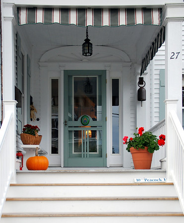 Front Steps and Door at Lubec, Maine's Peacock House