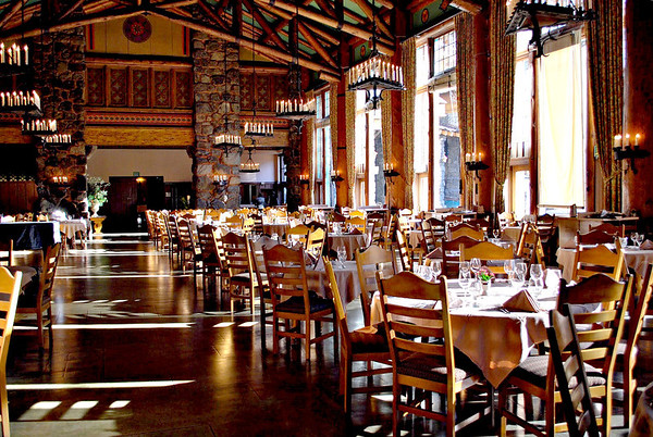 The Dining Room Of Ahwahnee Hotel