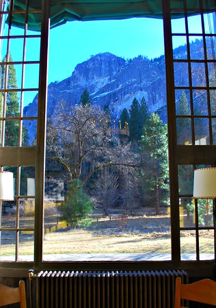 View from the windows of the Solarium at the Ahwahnee Hotel