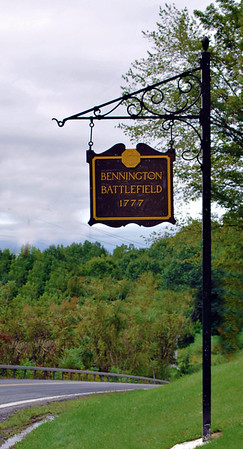 Sign for the Bennington Battlefield in New York State.