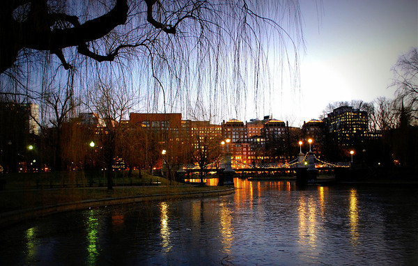 Boston Public Garden in the Evening