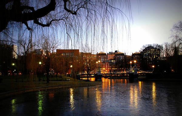 Boston Public Garden in the Evening