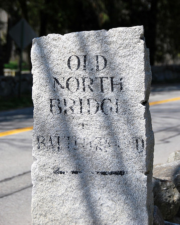 Battle Road Marker for the Old North Bridge