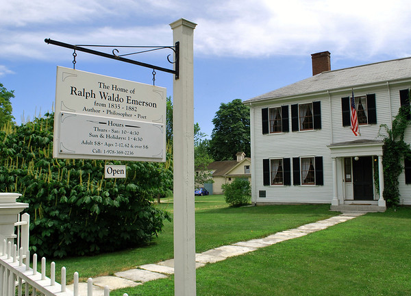 Sign at the Home of Ralph Waldo Emerson