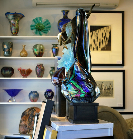 Glass sculptures at the Sarah Jessica Fine Arts Gallery