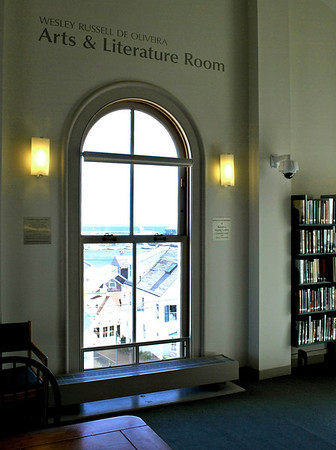 The Arts & Literature Room on the mezzanine level of the Provincetown Public Library