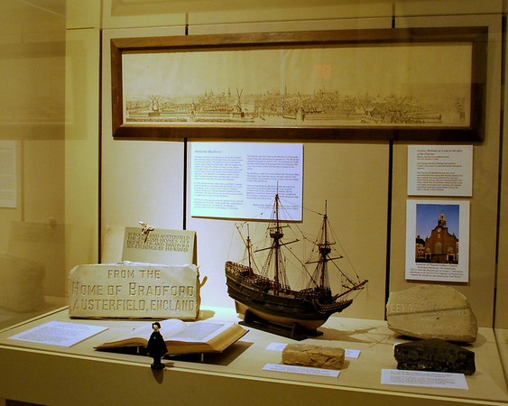 Nathaniel and an exhibit about the Mayflower