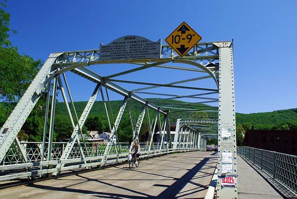 The Iron Bridge in Shelburne Falls, Massachusetts